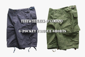 "FREEWHEELERS "" 6-POCKET FATIGUE SHORTS """